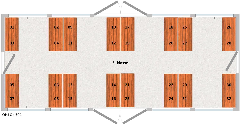 OHJ Qa304 Siddepladser