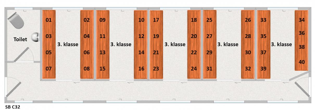 SB C32 Siddepladser